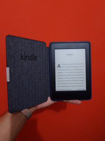 Kindle Paperwhite Preto 4gb C Iluminação + Capa Couro Amazon