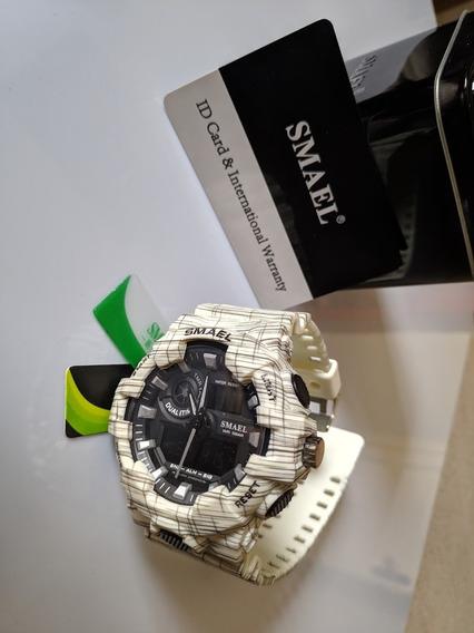 Relógio Militar Marinha Smael Original Com Caixa Metal