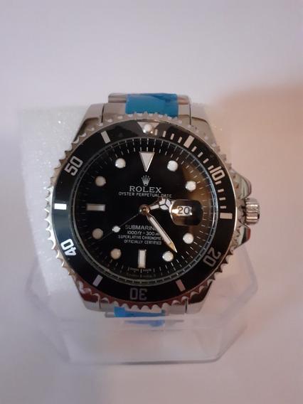Relógio Masculino Pronta Entrega Preto Silver 45mm
