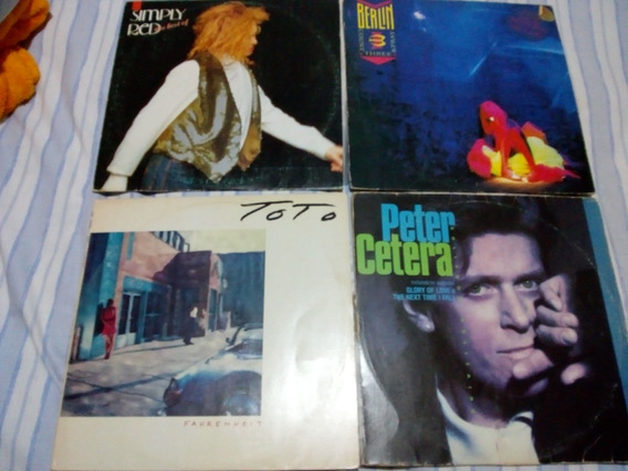 Lp Vinil Simply Red, Peter Cetera Outros - Lote 04 Discos