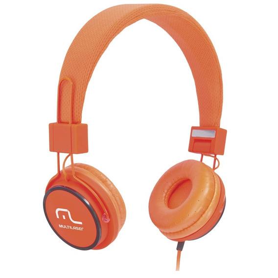 Fone De Ouvido Headphone Fun - Laranja - Multilaser