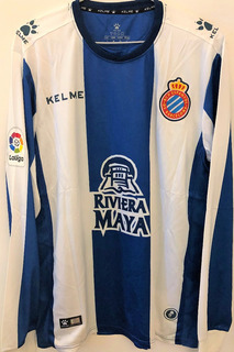 Camisa Espanyol 2018/19 Sergio Garcia #9 Mangas Longas