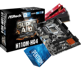 Kit Intel Pentium G4560 Mb H110m Hg4 2x 4gb Ddr4 2400mhz