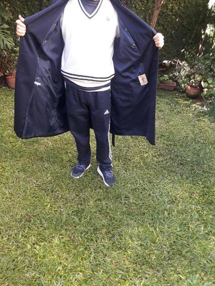 Impermeable Piloto Hombre Estilo Inglés - Talle 52 - Olivos