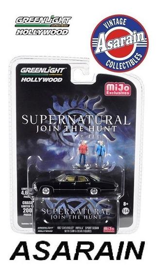 Impala Supernatural C/ Bonecos Hollywood Greenlight 1/64