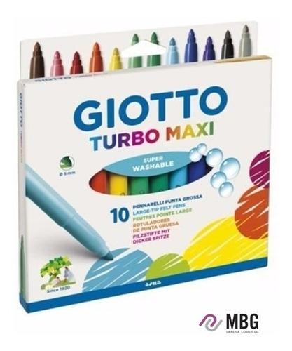 Marcador Giotto Turbo Maxi Lavable Por 10 Unidades