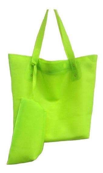 Bolsa Praia Verde Fluorescente Impermeável Silicone 2019
