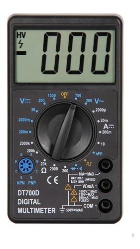 Multimetro Tester Pantalla Grande Ts700d Pronext