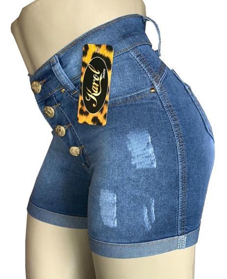 Kit 5 Shorts Feminino Cintura Alta