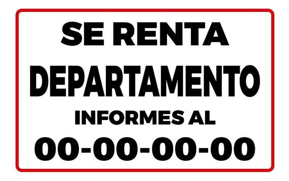Lona Se Renta Inmueble 100x150 M. Con Tu Numero Impreso