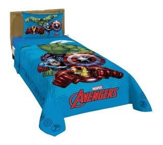 Jogo De Cama Marvel Avengers Os Vingadores 2 Peças Lepper