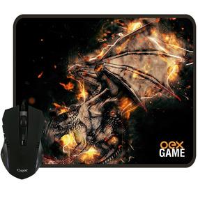 Kit Combo Mouse Gamer 2400dpi Led + Mousepad Arena Mc102 Oex