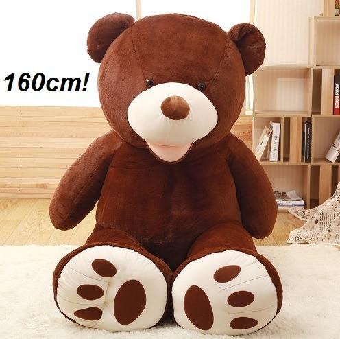 Ursinho Urso Ursão De Pelúcia Premium Marrom 160cm 1,60 Mts