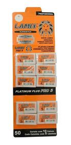 Lâmina De Barbear Profissional Platinum Plus Pro 5 Lamix