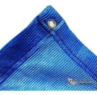 Tela Sombrite Azul 80% - 2,5m X 5m Bainha E Ilhós 50cm