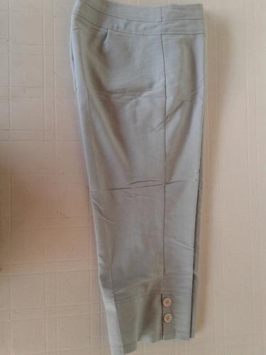 Pantalon Pescador Color Celeste Agua, Talle M