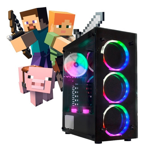 Pc Gamer I7, 16gb Ram,rx 570 8gb,hd 500gb Gabinete C/ Led