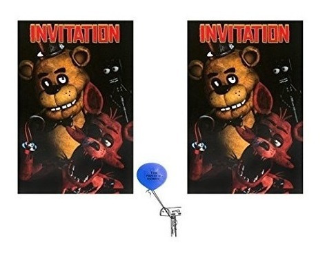 Five Nights At Freddys Invitaciones 16 Invitado