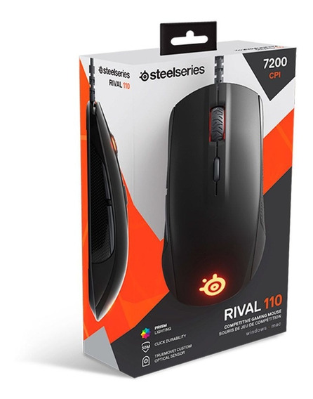 Mouse Gamer Steelseries Rival 110 7200dpi Rgb