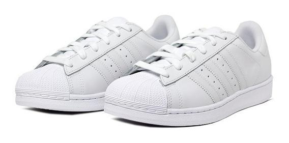Tênis adidas Superstar Branco Branco - Original