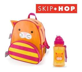 Mochila + Garrafinha Squeeze Gato Gatinho Skip Hop ®
