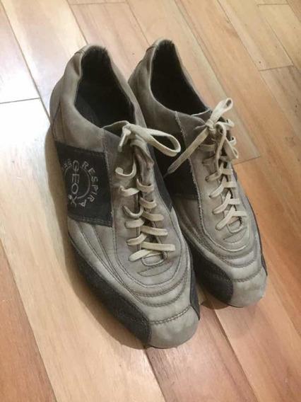 Zapatillas Geox De Cuero, Respirables. Nro 45. Usadas