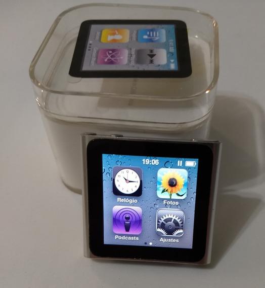 iPod Nano 6 Gen 8gb Prata Rádio Mp3 - Usado Parcela - Ydcmn