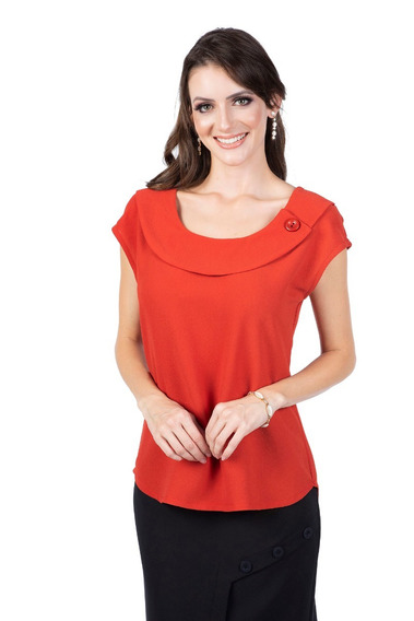 Blusa Feminina Lisa Leve Camiseta Manguinha Cores (05940)