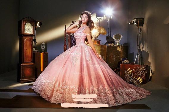 Vestido De Quinceañera Ragazza V73-373 Blush