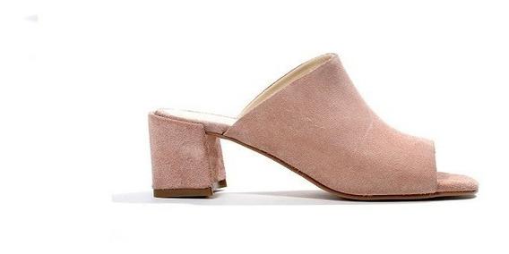 Zapatos Mujer Sandalia Natacha Gamuzón Nude #460