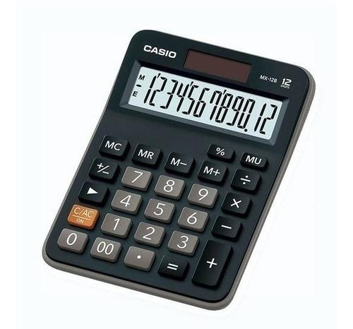 Calculadora Casio Mx-12b-bk  Relojesymas