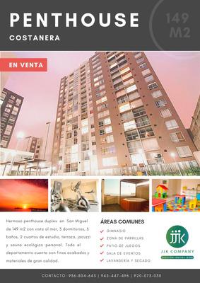 Venta De Penthouse Exclusivo En San Miguel