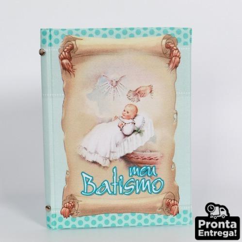 Álbum Fotográfico 15x21 24 Fotos Batismo Menino