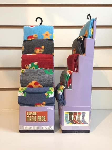 Set De Medias Para Adultos Mario Bros (5 Pares)
