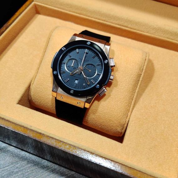 Reloj Hublot Maquinaria Japonesa Cristal Zafiro