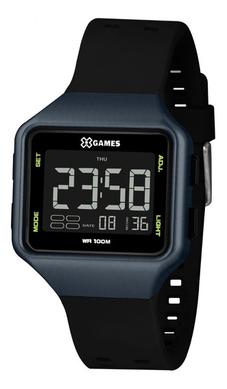 Relógio X-games Masculino Digital Xgppd150 Azul Preto