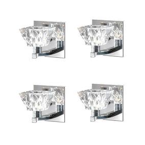 4 Arandela Interna G9 Vidro Cristal Espelho Lavabo Sala Alz5