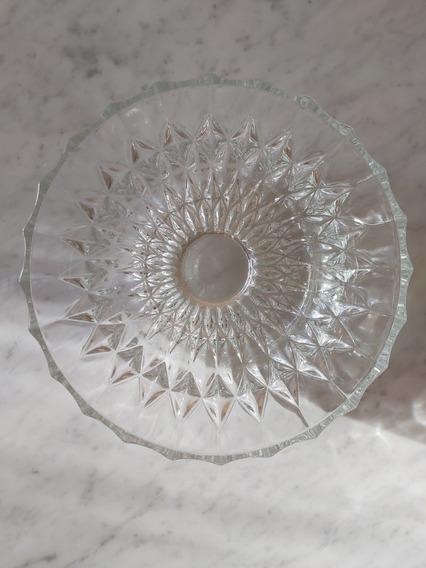 Ensaladera De Cristal Tallado. 20cm Diametro