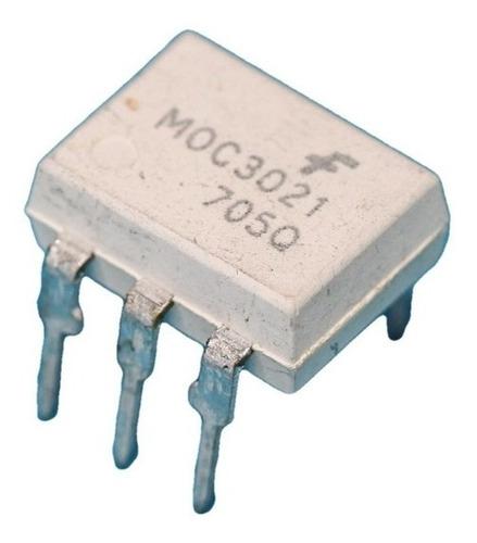 Imagen 1 de 2 de Pack X 3 Optoacoplador Moc3021 Moc 3021 Dip6 Fairchild