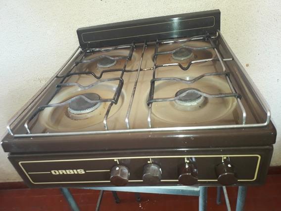 Cocina Orbis De Cuatro Hornallas Luz Y Reloj De Temperatura