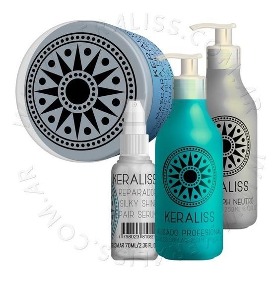 Keraliss Kit 2.8 Alisado + Shampoo Neutro + Serum+ Mascara