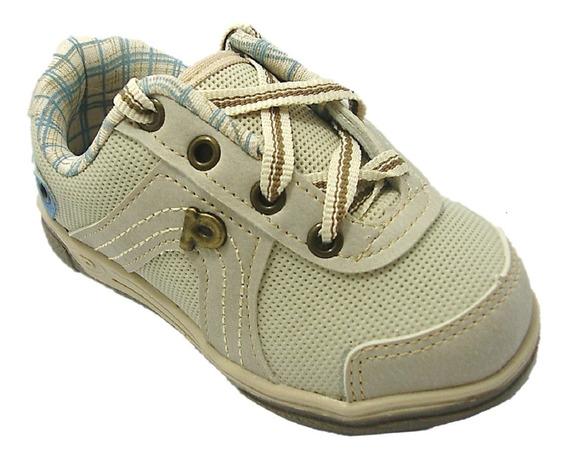 Tênis Infantil Sapato Masculino Areia 47280 Da Pé Com Pé