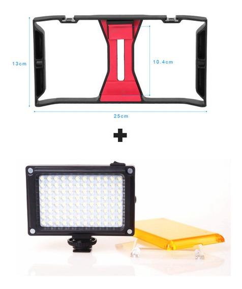 Kit Stedicam Celular + Iluminador Led 96