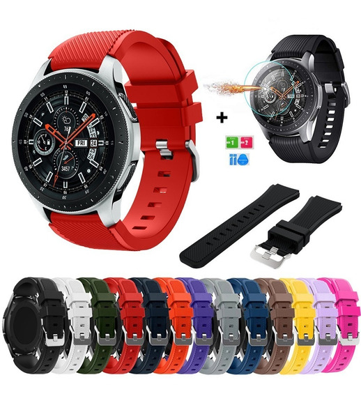 Kit 3 Correas Sport Silicon Colors Galaxy Watch 46mm + Mica