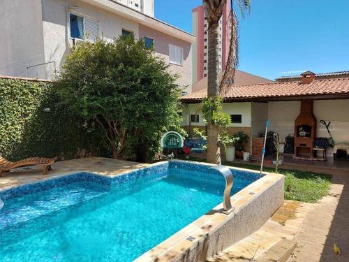 Imagem 1 de 30 de Lindo Sobrado Com 3 Dormitórios À Venda, 255 M² Por R$ 1.590.000 - Campestre - Santo André/sp - So0178