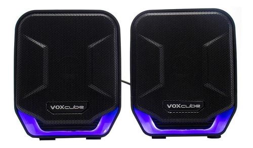 Caixa de som Infokit Voxcube VC-D360 portátil  preta e azul