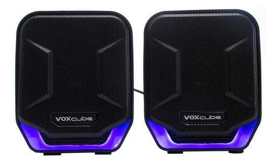 Caixa de som Infokit Voxcube VC-D360 portátil Preto/Azul