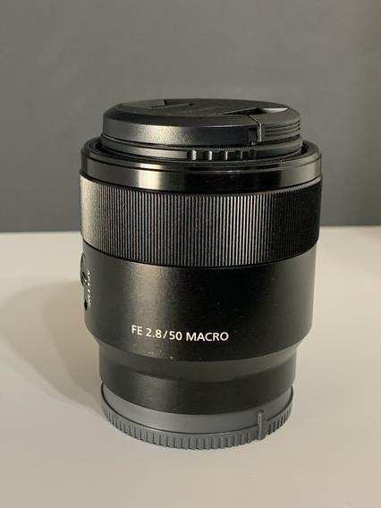 Lente Macro Sony Fe 50mm F / 2.8 Com Kit De Filtros Uv