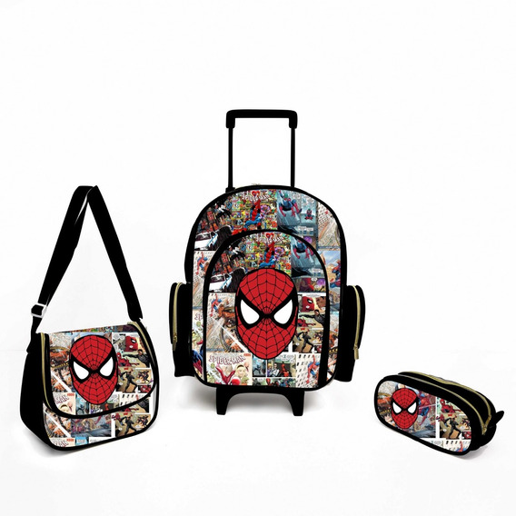 Kit Escolar Infantil Homem Aranha