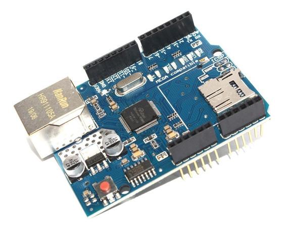 Modulo Arduino Ethernet Shield W5100 Com Slot Para Sd Card